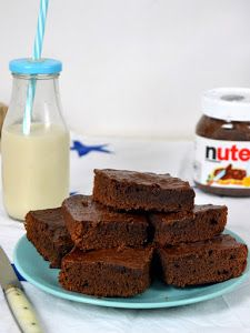 Brownie De Nutella Con Solo 3 Ingredientes Postres Con Nutella Nutella Recetas 3 Ingredientes