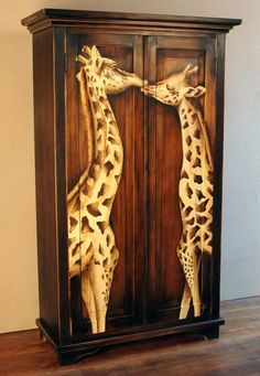 This would be perfect for my giraffe room Giraffe Room, Giraffe Decor, Giraffe Art, Cute Giraffe, Giraffe Quotes, Giraffe Painting, Funky Furniture, Furniture Makeover, Painted Furniture