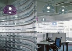 Aweome! Water bottle wall
