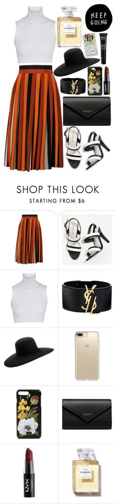 """""""heart eyes"""" by tasnim-ali ❤ liked on Polyvore featuring Givenchy, Yves Saint Laurent, Maison Michel, Speck, Dolce&Gabbana, Balenciaga, NYX, Chanel and MAKE UP FOR EVER"""