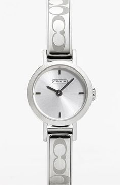 COACH 'Signature Studio' Bangle Watch available at #Nordstrom My new watch :)