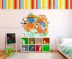 Items similar to ABC Decal - Alphabet Decal Set - 26 Alphabet Wall Decals - x on Etsy Alphabet Wall Decals, Toddler Rooms, Ark, All The Colors, Baby Room, Toy Chest, Playroom, Storage Chest, Kids Room