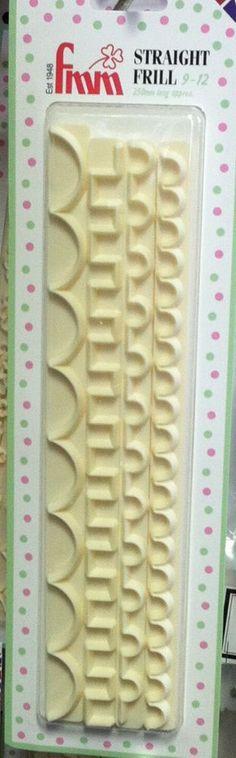 FMM Straight Frill Cutter #3 (set of 4) fondant cake decorating gum paste #FMM