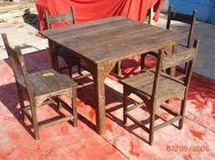 Resultado de imagen para mesas con sillas con palets