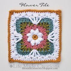 Transcendent Crochet a Solid Granny Square Ideas. Inconceivable Crochet a Solid Granny Square Ideas. Grannies Crochet, Crochet Motifs, Crochet Blocks, Granny Square Crochet Pattern, Crochet Squares, Love Crochet, Crochet Stitches, Crochet Patterns, Crochet Flower