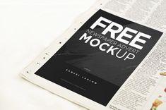 Free Newspaper Advert Mockup - Freebies - Fribly