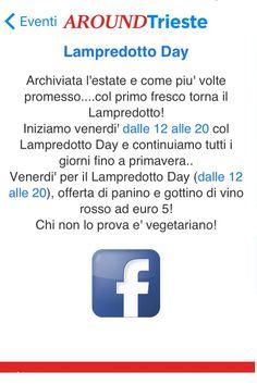 Scarica l'App AroundTrieste e Vivi Trieste!! www.aroundtrieste.it  Enoteca Wine Bar L'Etrusco Lampredotto day!! www.etruscotrieste.com Via dei Capitelli 7b