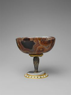 Cup, cup 900–1100 CE; stem, base, and mounts ca. 1655–60. Byzantine (cup) and French, Paris (stem, base, and mounts). The Metropolitan Museum of Art, New York. Gift of J. Pierpont Morgan, 1917 (17.190.594)