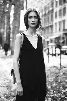 Marine Deleeuw on Viale Piave after the Dolce&Gabbana show