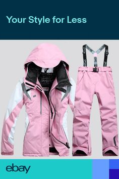 Women Ski Suit Jacket+Pants Warm Set Thermal Snowboard Snowsuit Set warm  winter Sport Wear 971ce3cd6