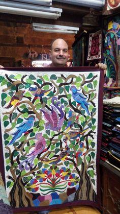 Tarek al Safty Birds Tentmakers of Cairo by TheTentmakersofCairo Life In Egypt, Stitch Patch, Bird Applique, Bird Quilt, Cairo, Egyptian, Folk Art, Needlework, Real Life