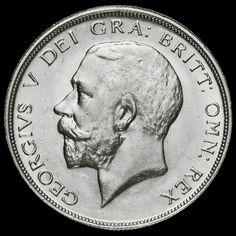 1912 George V Silver Half Crown, Scarce, AEF/ EF