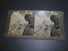 Stereoview THE GLORIOUS YOSEMITE VALLEY from GLACIER POINT  CALIFORNIA v26060