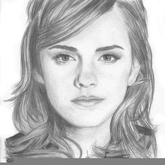 Portrait of Emma Watson by ketmis on Stars Portraits, the biggest online gallery for celebrity portraits. Bff Drawings, Girl Drawing Sketches, Cute Cartoon Drawings, Portrait Sketches, Girl Sketch, Cool Art Drawings, Pencil Portrait, Drawing Tips, Harry Potter Portraits