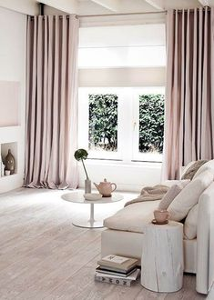 pink-modern-curtains-for-living-elegant interior - Wohnideen - Zimmer Design Curtains Living, Modern Curtains, Bedroom Curtains With Blinds, Window Curtains, Luxury Curtains, Nursery Curtains, Cafe Curtains, Hanging Curtains, Shower Curtains
