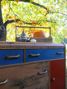 Emily's Up-cycled Furniture: A Tale of Two Waterfall Buffets