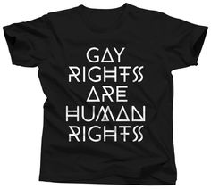 cb89b289c2b7e Items similar to Gay Rights Are Human Rights - Equal Rights Shirt - Human  Rights Tshirt - Gay Pride Month - Equality T-shirt - Lesbian T Shirt - LGBT  Tee on ...