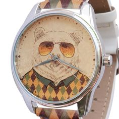 Minimalist Watch, Genuine Leather, Mens Watch, Hipster Bear Watches #ZIZ #Fashion