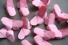 Papillon Rose Origami lot 20 Décoration par LaureDaintyArt sur Etsy