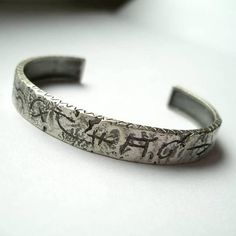 Coda 8 Silver Cuff Bracelet Amulet Silver Cuff Brutalist