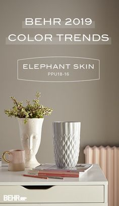 There's nothing like a neutral wall color to add a timeless style to your home. For your next DIY home makeover project, turn to Behr Paint in Elephant Skin. As part of the 2019 Color Trends collection, this trending shade of gray goes well with a variety of pastel hues. Click below to discover more interior design inspiration.