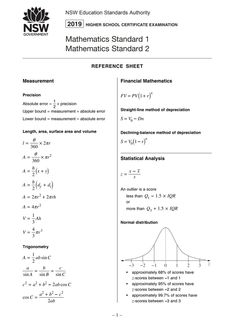 mathematics standard 2 formula sheet  Template Design (templatedesignform) on Pinterest