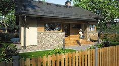 Projekt domu Ricardo XI 72,90 m² - koszt budowy - EXTRADOM Village House Design, Village Houses, Weekend House, Facade House, House Plans, Farmhouse, Exterior, Studio, Country