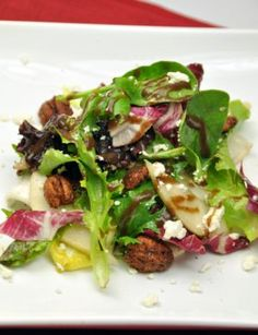 Field Green and Pear Salad