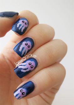 Cute Jellyfish Nails   Jamegackie