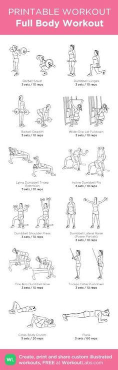 Full Body Workout: my custom printable workout by @WorkoutLabs #workoutlabs #customworkout by jeannine