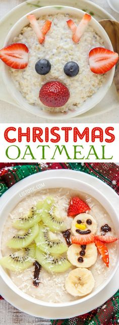 Oatmeal brings whole grains, fiber, and protein to the table. Dress it up for Christmas!