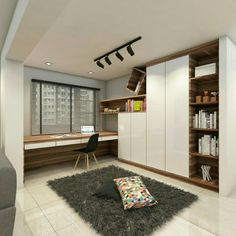 Compact Study Room Designs To Help Your Kids Study - ax image 03 StudyArea. Study Table Designs, Study Room Design, Kids Study Table Ideas, Home Design, Home Office Design, Office Decor, Architecture Model Making, Architecture Layout, Architecture Office