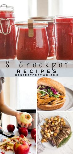 8 Crockpot recipes for two people. Small batch slow cooker recipes suited for a 4 quart or small slow cooker. #slowcooker #crockpot #recipecollection Crockpot Recipes For Two, Crockpot Dessert Recipes, Crock Pot Desserts, Cookbook Recipes, Slow Cooker Recipes, Slow Cooker Bread Pudding, Small Slow Cooker, Cacciatore Recipes, Chicken Spaghetti Recipes