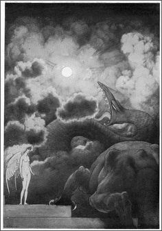 "Sidney H. Sime, ""Inzana Calls up the Thunder"""
