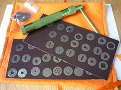I love this! Magnet sheets to keep clay extruder disks organized!