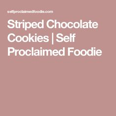 Looking for a cookie that will really impress? Everyone will love these Striped Chocolate Cookies made with a touch of peppermint, perfect for the holidays! Chocolate Cookies, Peppermint, Mint, Chocolate Chip Cookies, Chocolate Brownies, Chocolate Cakes