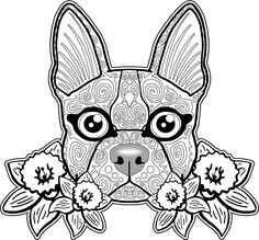 dog coloring page dog coloring pages free coloring page free coloring pages for adults sugar skull pinterest coloring - Free Dog Coloring Pages