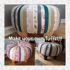 Make Your Own, Make It Yourself, How To Make, Ottoman, Pattern, Home Decor, Decoration Home, Room Decor, Patterns