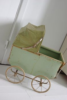 Up & down the sidewalk with this - rearranging dolls and blankets - when I was growing up
