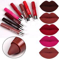 2016 Nueva Miss Rose Marca de Maquillaje Kit de Cosméticos de Color de Labios Mate Color Mate Lápiz Labial Lápiz Labial de larga Duración Rojo Dulce Lot