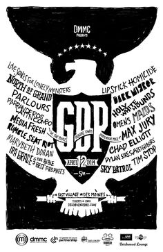 """Gross Domestic Product All-Iowa Lineup Announced - Tickets Available Now - The 9th annual Gross Domestic Product, a showcase of Greater Des Moines and Iowa music, will take place on April 12th, 2014. This year the event will feature 18 musical artists at venues around Des Moines' East Village. - Main stages will be at Wooly's and House of Bricks, with a free stage at Beechwood Lounge (ages 21+ only) and free """"pop-up"""" shows at local businesses around the neighborhood (all ages). Pop-up…"""