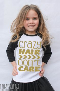 Gold GLITTER Crazy Hair Don't Care Toddler by Messy Hair