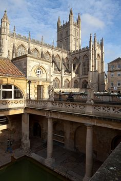 Bath Abbey & The Roman Baths, Bath, England