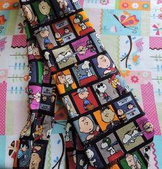 Peanuts Cartoon Comic Strip Snoopy Charlie Brown 100% Silk Neck Tie  #Peanuts #Tie