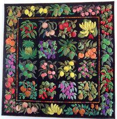 Applique quilt by Liz Jones (UK), exhibit at Quilt en Sud (France)