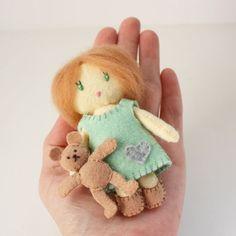 Little Matchbox Cuties Felt Dolls PDF Digital Pattern. $9.00, via Etsy.