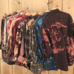 Grunge Flannel Shirt distressed plaid button down by RestoredRose