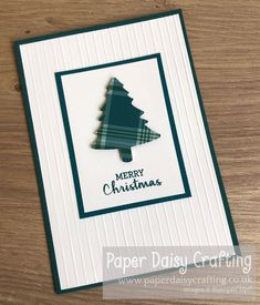 Paper Daisy Crafting: Perfectly Plaid Christmas Cards