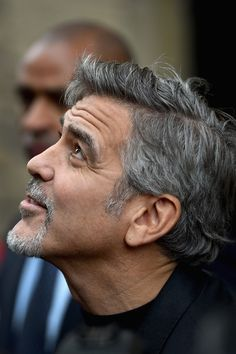 George Clooney Photos - George Clooney Visits Former Homeless Workers at a Scottish Sandwich Shop