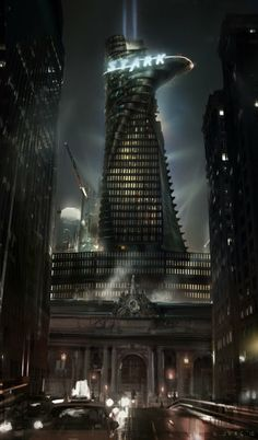 Stark Tower concept by Steve Jung